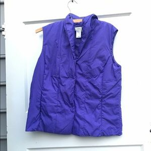 Coldwater creek puffy vest purple